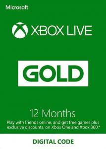Suscripción Xbox Live Gold 12 Meses