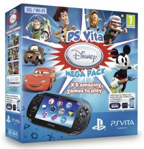 PS Vita Pack Consola 3G + Megapack Disney + Tarjeta De Memoria 8 GB