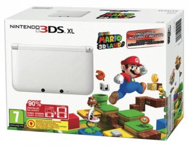 Nintendo 3DS XL Pack Blanca con Super Mario 3D Land