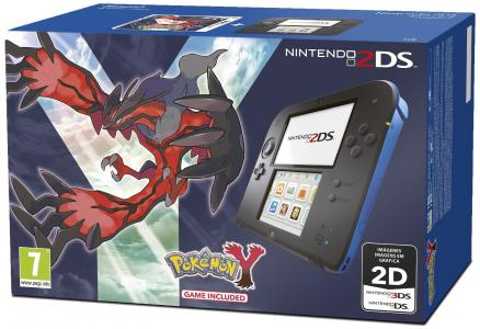 Nintendo 2DS Pack Azul y Negro + Pokemon Y