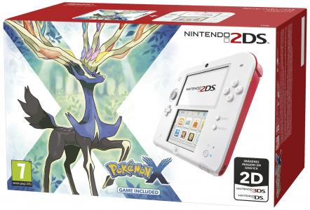 Nintendo 2DS Pack Blanco y Rojo + Pokemon X