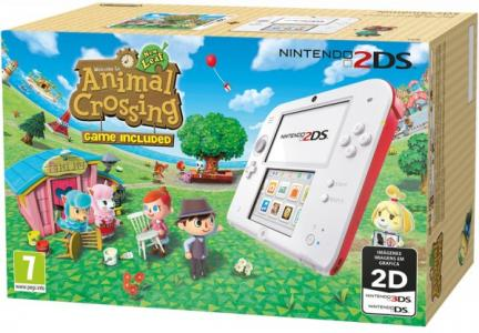 Nintendo 2DS Pack Blanco y Rojo + Animal Crossing: New Leaf