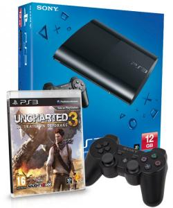 Playstation 3 Pack consola 12GB + Uncharted 3 + DualShock 3