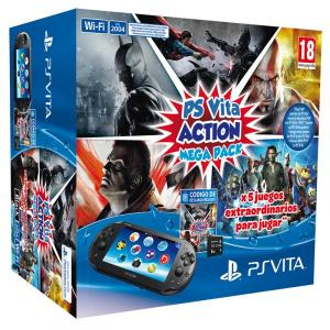 PS Vita Pack consola slim + Action Mega Pack + Tarjeta 8GB