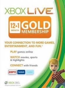 Suscripción XBOX LIVE GOLD de 13 meses