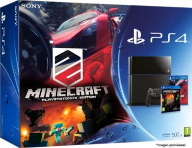 Consola Playstation 4 Ps4 Pack Driveclub Minecraft Para