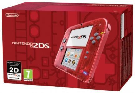 Nintendo 2DS Rojo Trasparente