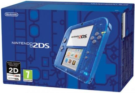 Nintendo 2DS Azul Trasparente