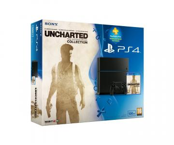 Consola Playstation 4 (PS4) Pack Uncharted Collection + Suscripción 3 Meses Plus