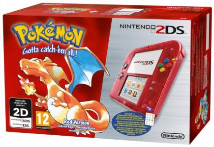 Nintendo 2ds Pack Rojo Transparente Pokemon Edicion Limitada