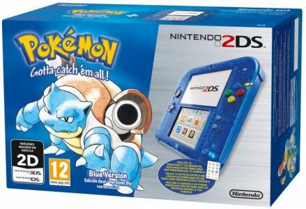 Nintendo 2DS Pack Azul Transparente + Pokémon, edición limitada