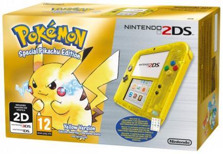 Nintendo 2DS Pack Amarillo Transparente + Pokémon, edición limitada