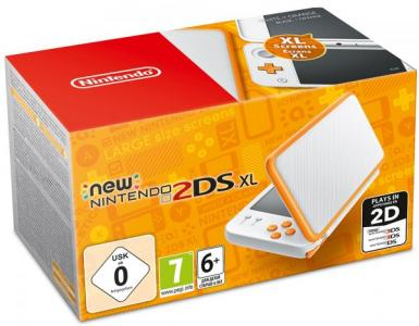 Nintendo New 2DS XL Blanco y Naranja