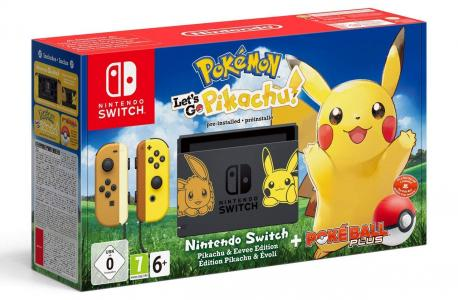 Consola Nintendo Switch Let's Go Pikachu Bundle (Ed. Limitada)
