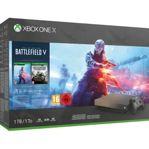 Consola Xbox One X 1TB Gold Rush Special Edition Pack Battlefield V