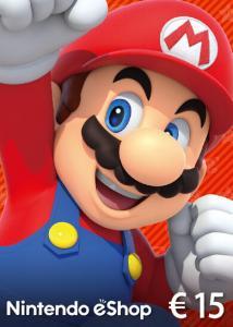 Tarjeta prepago Nintendo eShop 15€